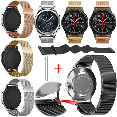 Universal Milanese Mesh Loop Magnetic Watch Band Strap Metal Wristband 20mm 22mm