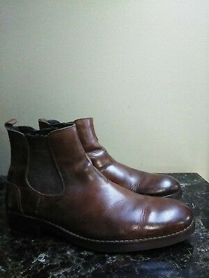 cd050871f65 WOLVERINE MONTAGUE CHELSEA 1000 Mile Brown Leather Boots W00922 Men's 10.5 D