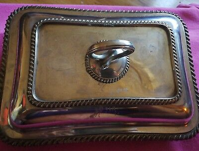 Vintage Silver Plated DOUBLE SERVING Dish T B&S Sheffield circa 1890