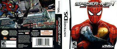 Nintendo DS replacement case with Cover Spiderman Web of Shadows