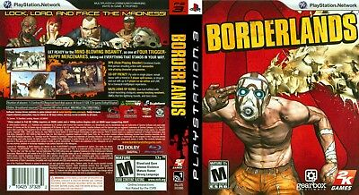 Sony Ps3 Replacement Game Case and Cover Video Game Case Borderlands