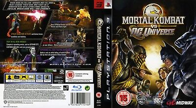 Sony Ps3 Replacement Game Case and Cover Mortal Kombat vs DC Universe