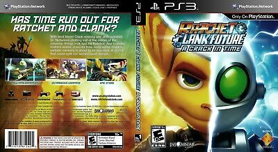 Sony Ps3 Replacement Game Case and Cover Ratchet and Clank Future: A Crack in Ti