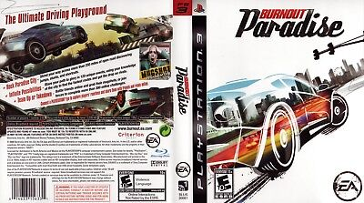 Sony Ps3 Replacement Game Case and Cover Video Game Case Burnout Paradise