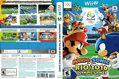 Nintendo Wii u Replacement Case and Cover Mario & Sonic at the Rio 2016 Olympic