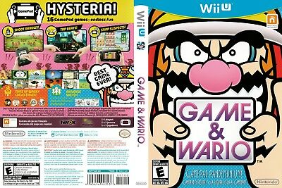 Nintendo Wii u Replacement Case and Cover Game & Wario