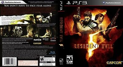 Sony Ps3 Replacement Game Case and Cover Resident Evil 5