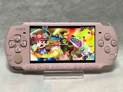 Sony PSP 3000 Handheld System w/ wall charger & 128gb Memory Card Top EMULATORS.