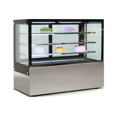 Commercial Display Fridge Cake Showcase 4 Layers 1500mm length heated glass