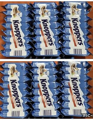 KNOPPERS X6Packets 48PIECES Waffle Sandwich Hazelnut Chocolate MADE IN GERMANY
