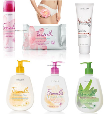 ORIFLAME FEMINELLE INTIMATE CARE deodorant balm mild wash refreshing wipes