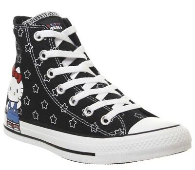 afde59ebb90d2 Femmes Converse All Star Baskets Montantes Hello Kitty Noires Blanches S