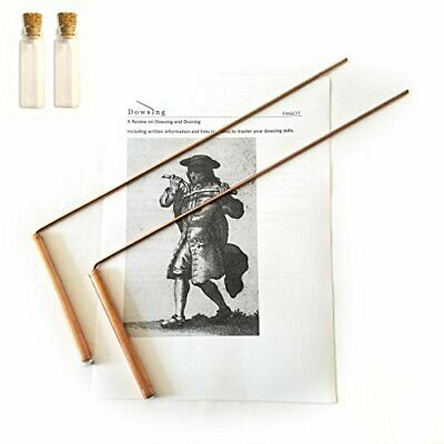 FM&OT Dowsing Rod Copper -Solid Material 99% - Ghost Hunting, Divining Water, Go