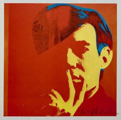 """Andy Warhol, """"Double Self Portrait"""" Hand signed Print, 1986 with COA"""