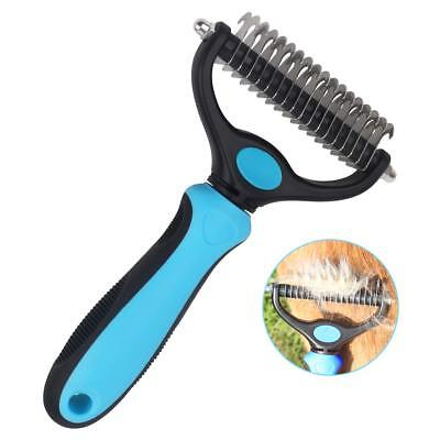 Dog Pet Brush Comb for Grooming, 2 Sided Dematting Rake