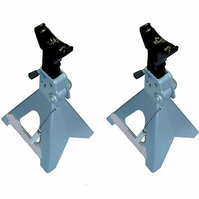 Car Stands 3 Ton Each Axle Stand Silver Low Pro Trolley Jack Stands Hoists New