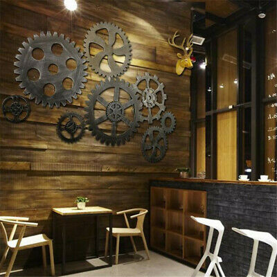 Industrial Vintage Retro Gear Antique Art Bar Cafe Home Wall Hanging Decor CB