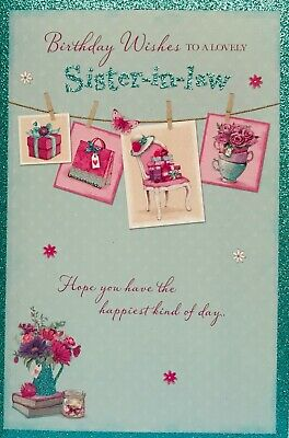 To A Lovely Sister In Law Happy Birthday Card Luxury Verse