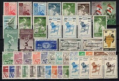 P106617/ Liban / Lebanon / Lot 1958 - 1959 Neuf * / Mh 103 €