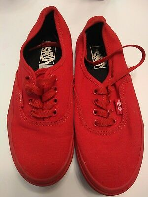 5a0f2a43215528 VANS Atwood Canvas Black White Red Skate Sneakers Kid Youth size 2 Boy Shoes