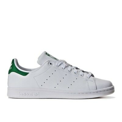 best loved 6a5b6 4d4ae Adidas Chaussures Stan Smith M20324 Homme Blanc Vert Baskets Sportif Faible  Neuf