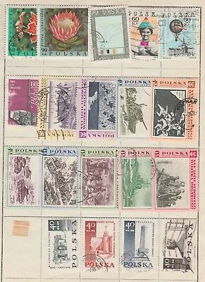 POLAND Collection Protea Flowers Battles War etc USED as per scan #