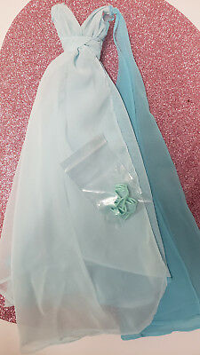 Blue Chiffon Aqua Mattel Silkstone Barbie Long BallGown ONLY