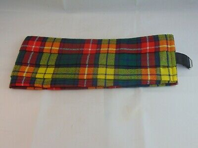 "Buchanan Tartan Wool Adjustable Pleated Cummerbund 32-40"" Waist"