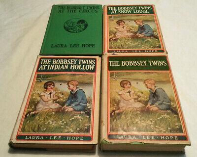 Mixed Lot Of 4 The Bobbsey Twins Books Hardcover 1913, 1932,1940  Antique Books