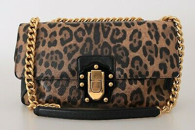b1d00f24997f NEW $2500 DOLCE & GABBANA Bag Purse Leopard Leather LUCIA Shoulder Borse