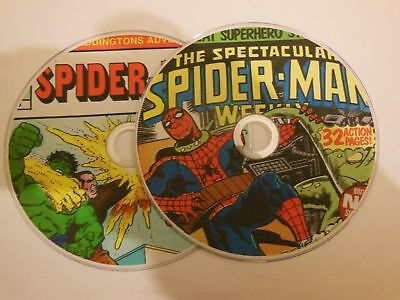 VINTAGE SPIDERMAN MARVEL UK COMICS on DVD