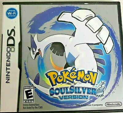 Pokemon: SoulSilver Version (Nintendo DS, 2010) With COVERBOX, Game, Manual