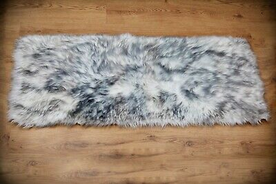 Supersoft faux sheepskin fur rug floor rug with faux suede back 55x55/60x120cm