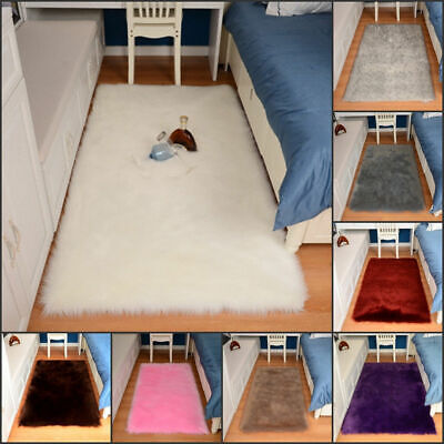 Supersoft faux sheepskin fur rug floor rug with faux suede back small large size