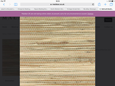 Wallpaper Real Natural Grasscloth Chunky Textured Tan and Beige Grass on Red
