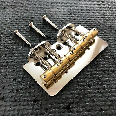 Fully compensatable bass bridge for 51 Precision string thru, brass saddle, 19mm