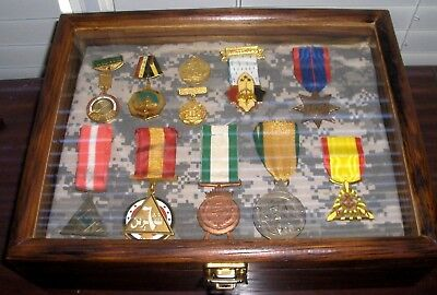 Iraqi Republic Medals 1950's 60's Early 90's Original In Wooden Presentation Box
