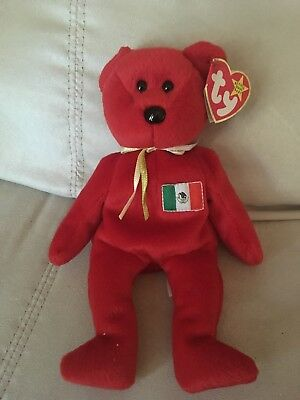 New Ty Beanie Baby Osito the Mexican Bear 1999 Mexico Flag Mint w  Tags MWMT e0dc349c9282