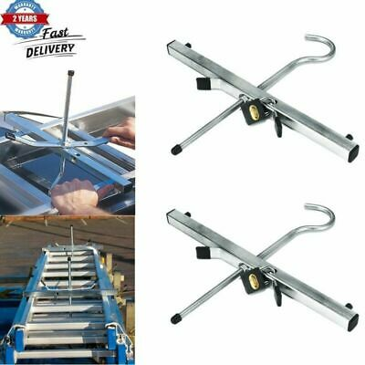 VOCHE® 2PC UNIVERSAL FITTING LOCKABLE CAR VAN ROOF RACK LADDER CLAMPS /& PADLOCKS
