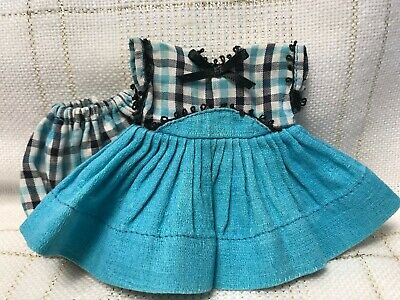 1955 Vintage Doll CLOTHES - Vogue Ginny, (tag) #41 Tiny Miss Dress, Panties,8""