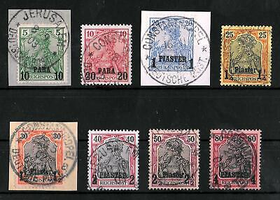TURKEY GERMAN OFFICES 1900 Used Set of 8 Michel #12I-19I CV €60