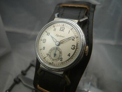 !! 1930'S Art Deco Military Style Optima Hau / Watch - Sehr Schön / Very Nice !!