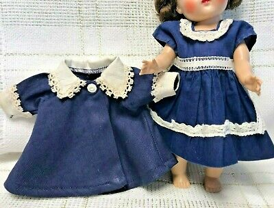 1957 Vintage Doll CLOTHES - Vogue Ginny, (tag) #7180 Coat Separate with Dress