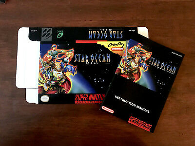 Super Nintendo SNES STAR OCEAN box and manual only NO GAME!