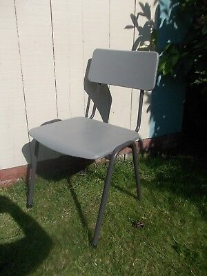 Vintage Retro Remploy Plastic Metal Childrens Kids School Stacking Chairs