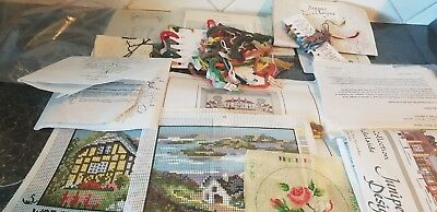 Collection of 'Cross Stitch' patterns/canvas/thread - see pictures - lot 1