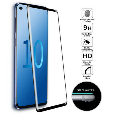 6D For Samsung Galaxy S10 Plus Lite Tempered Glass Full Cover Screen Protector