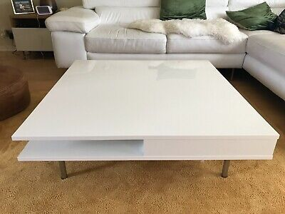 Modern Coffee Table White Gloss Excellent Condition Ikea