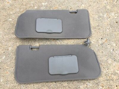 2001-2009 Ford Escape Mazda Tribute SUNVISOR Visor Shade Dark Gray Pair OEM 880b27686d8