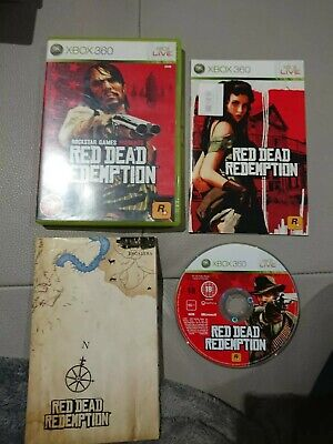 Red Dead Redemption - Xbox 360 Complete With Map And Manual